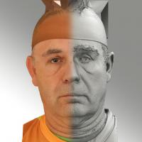 3D head scan of neutral emotion - Ilja
