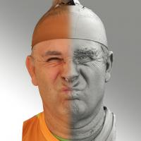 3D head scan of irate emotion - Ilja