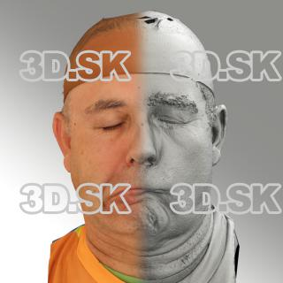3D head scan of sneer emotion right - Ilja