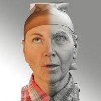 3D head scan of looking up emotion - Iveta