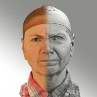 3D head scan of angry emotion - Iveta