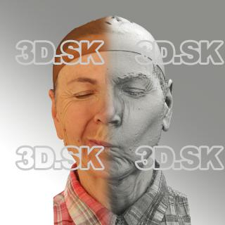 3D head scan of sneer emotion right - Iveta