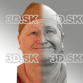 3D head scan of natural smiling emotion - Lada