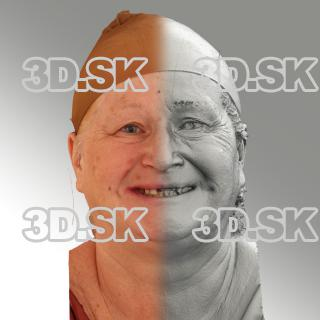 3D head scan of smiling emotion - Lada