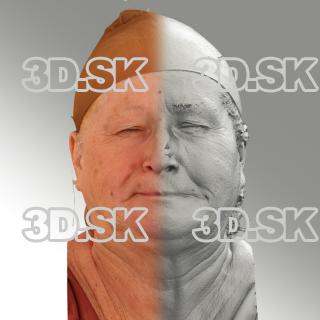3D head scan of sneer emotion right - Lada