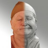 3D head scan of sneer emotion left - Lada