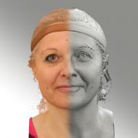 3D head scan of natural smiling emotion - Eva