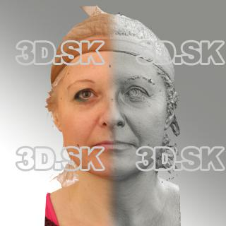 3D head scan of neutral emotion - Eva