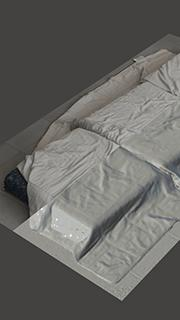 RAW 3D scan of mattress