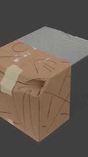 RAW 3D scan of cardboard box