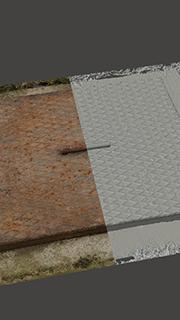 RAW 3D scan of manhole cover #3
