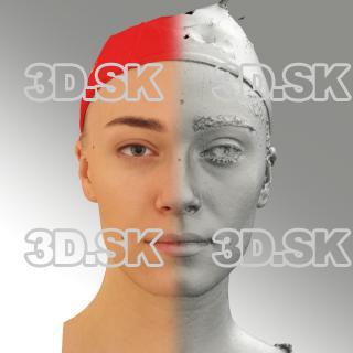 3D head scan of neutral emotion - Dina