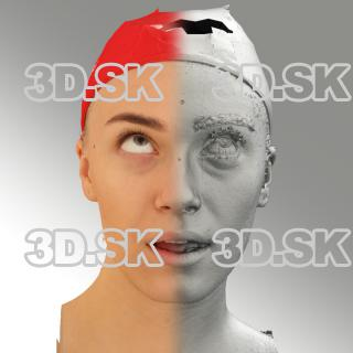 3D head scan of looking up emotion - Dina