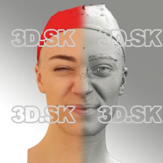 3D head scan of angry emotion - Dina