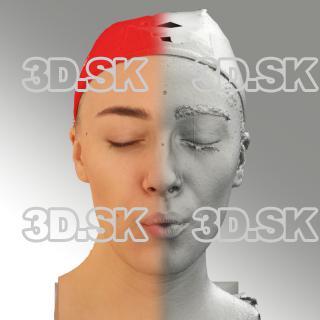 3D head scan of O phoneme - Dina