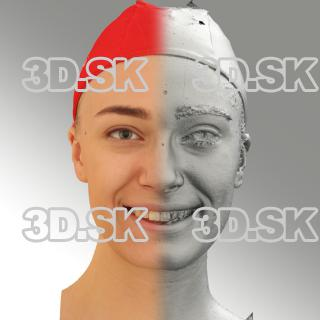 3D head scan of smiling emotion - Dina