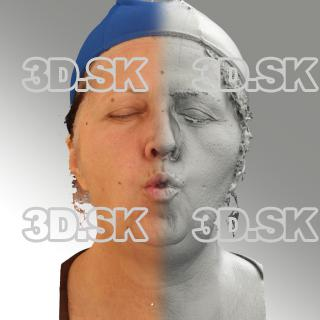 3D head scan of O phoneme - Zdenka