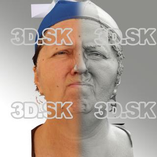 3D head scan of angry emotion - Zdenka
