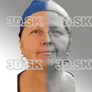 3D head scan of natural smiling emotion - Zdenka