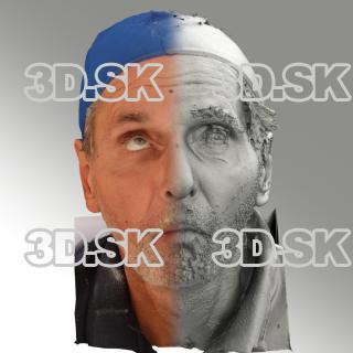 3D head scan of O phoneme - Richard