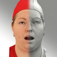 3D head scan of looking up emotion - Misa