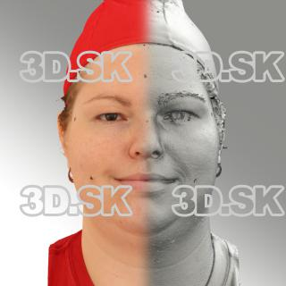 3D head scan of natural smiling emotion - Misa