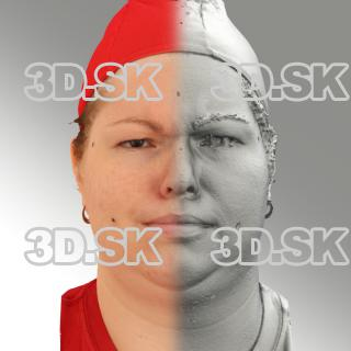 3D head scan of angry emotion - Misa