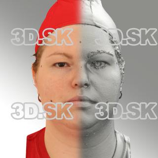 3D head scan of neutral emotion - Misa