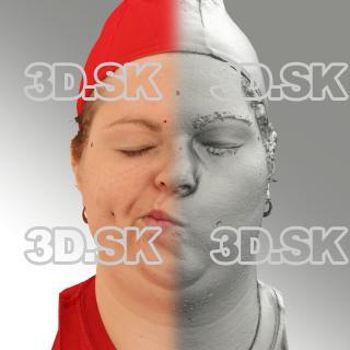 3D head scan of sneer emotion right - Misa