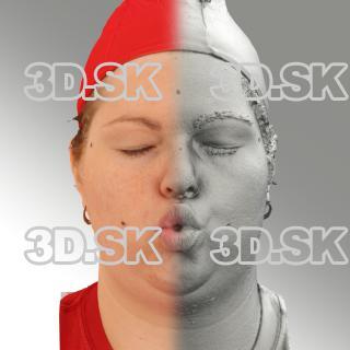 3D head scan of O phoneme - Misa