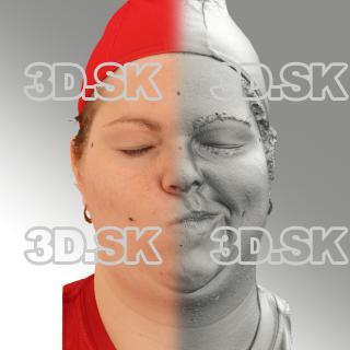 3D head scan of sneer emotion left - Misa