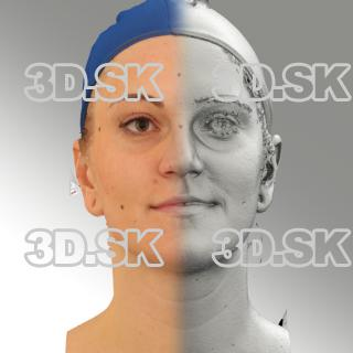 3D head scan of neutral emotion - Jana