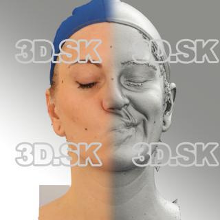 3D head scan of sneer emotion left - Jana
