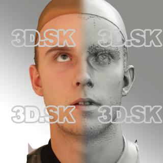 3D head scan of looking up emotion - Jirka