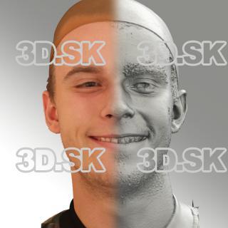 3D head scan of smiling emotion - Jirka