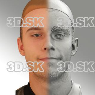 3D head scan of natural smiling emotion - Jirka
