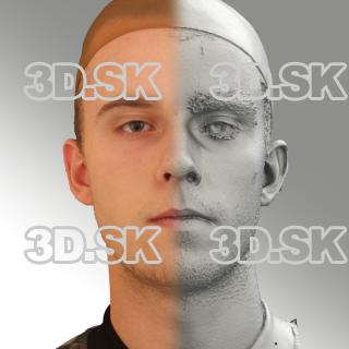 3D head scan of neutral emotion - Jirka