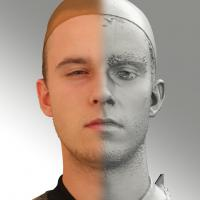 3D head scan of angry emotion - Jirka