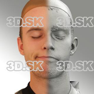 3D head scan of sneer emotion right - Jirka