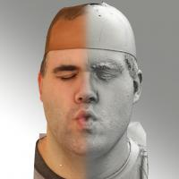 3D head scan of O phoneme - Martin