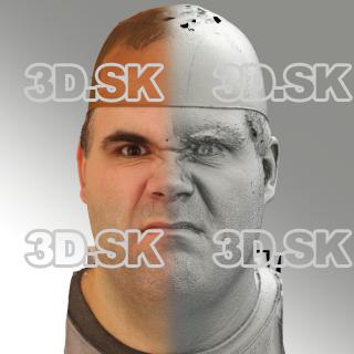 3D head scan of angry emotion - Martin