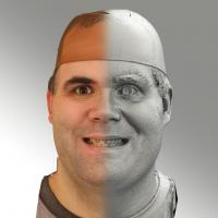 3D head scan of smiling emotion - Martin