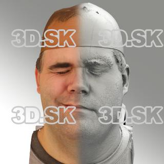 3D head scan of sneer emotion right - Martin
