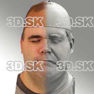 3D head scan of sneer emotion left - Martin