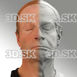 3D head scan of sneer emotion left - Richard
