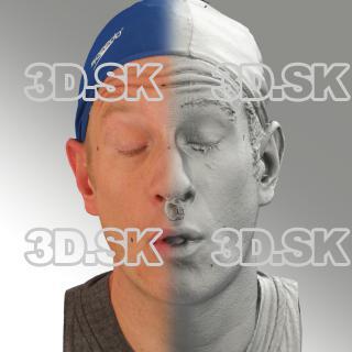3D head scan of O phoneme - Marcel