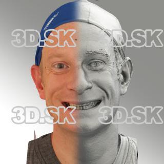 3D head scan of smiling emotion - Marcel