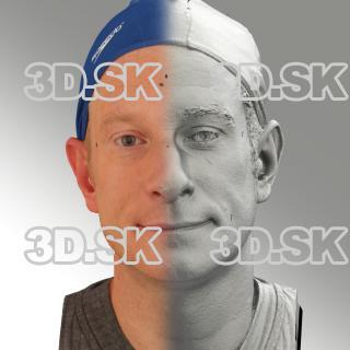 3D head scan of natural smiling emotion - Marcel