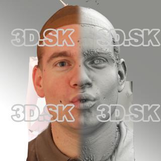 3D head scan of O phoneme - Petr
