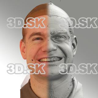 3D head scan of smiling emotion - Petr